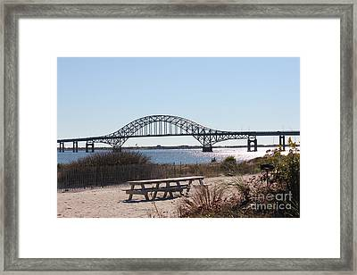 Fire Island Inlet Bridge Framed Print by Scenesational Photos