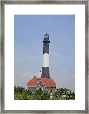 Fire Island Light House Framed Print