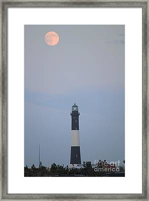 Fire Island Light House  Framed Print by Scenesational Photos