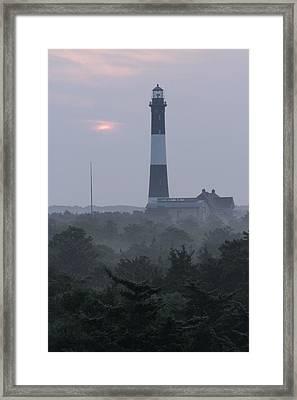 Fire Island Mornin Haze Framed Print