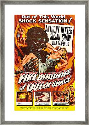 Fire Maidens Of Outer Space, 1956 Framed Print