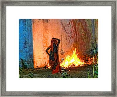 Fire Framed Print by Makarand Purohit