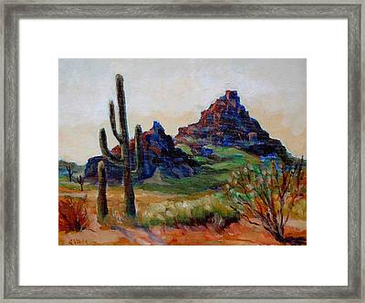 Fire Mountain  Framed Print by Edward Abela