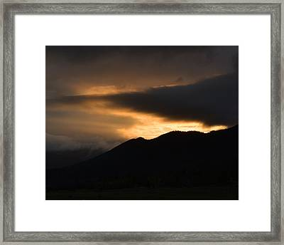 Fire On The Mountain Framed Print by Kevin Bone
