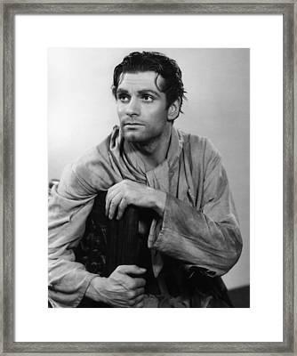 Fire Over England, Laurence Olivier Framed Print