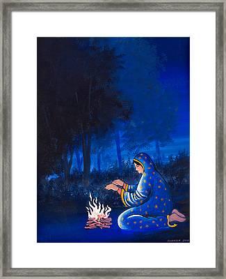 Fire Side Framed Print