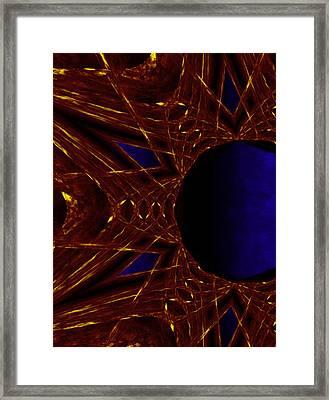 Fire Star Framed Print by Christopher Gaston
