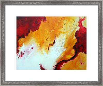 Fire Storm Framed Print by Mary Kay Holladay