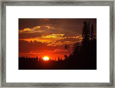 Fire Sun Framed Print