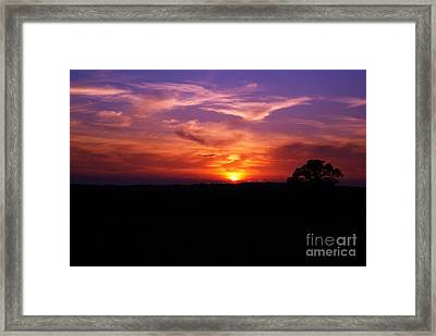 Framed Print featuring the photograph Fire Through The Storm by Julie Clements