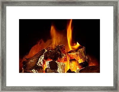 Fire Framed Print by Tom Gowanlock