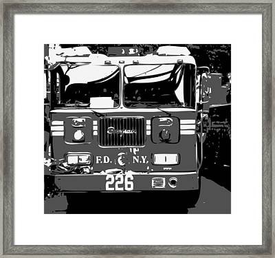 Fire Truck Bw3 Framed Print by Scott Kelley