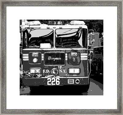 Fire Truck Bw6 Framed Print by Scott Kelley