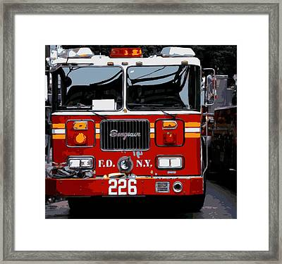 Fire Truck Color 16 Framed Print by Scott Kelley