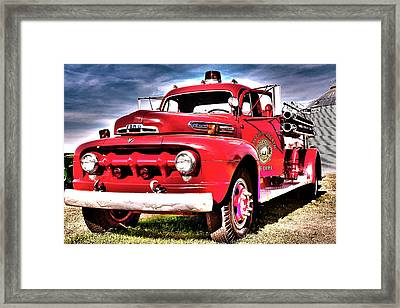 Framed Print featuring the photograph Fire Truck by Susi Stroud