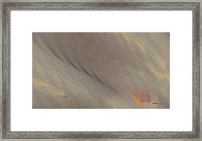 Fire-under Framed Print by Ines Garay-Colomba