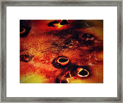 Fire Wall Framed Print