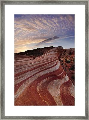 Fire Wave Framed Print by Joseph Rossbach