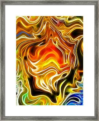 Fire Within Framed Print by Stephen Younts