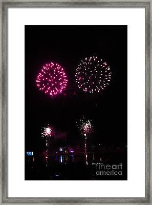 Fire Works Framed Print by Yumi Johnson