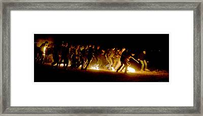 Fireball Game Framed Print by Mark Ivins