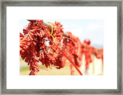 Firecrackers Framed Print by @mr.jerry