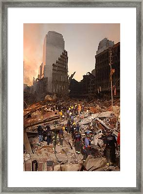 Firefighters And Search And Rescue Framed Print