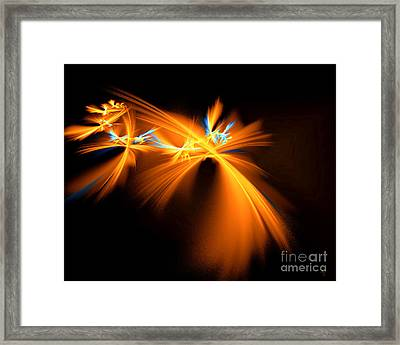 Framed Print featuring the digital art Fireflies by Victoria Harrington
