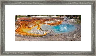 Firehole Spring Splash Framed Print