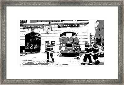 Firehouse Bw3 Framed Print