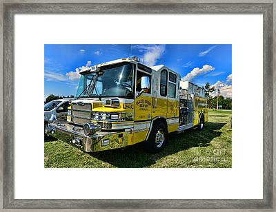 Fireman - Amwell Valley Fire Co. Framed Print by Paul Ward