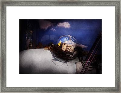 Fireman - Captains Hat Framed Print by Mike Savad