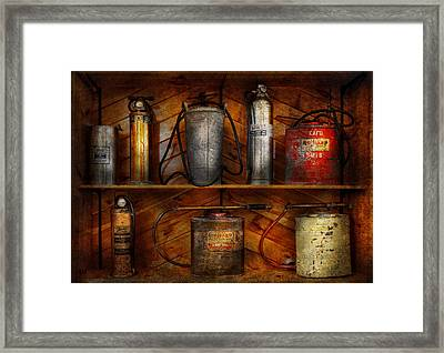 Fireman - Fire Control Framed Print by Mike Savad