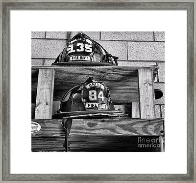 Fireman - Fire Helmets Framed Print by Paul Ward