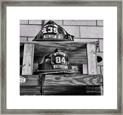 Fireman - Fire Helmets Framed Print