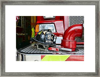 Fireman - Helmet Framed Print by Paul Ward