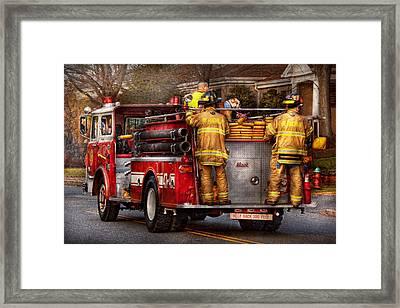 Fireman - Metuchen Fire Department  Framed Print by Mike Savad