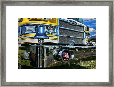 Fireman - Pierce Fire Truck Framed Print
