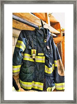 Fireman - Saftey Jacket Framed Print