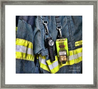 Fireman - The Fireman's Coat Framed Print by Paul Ward