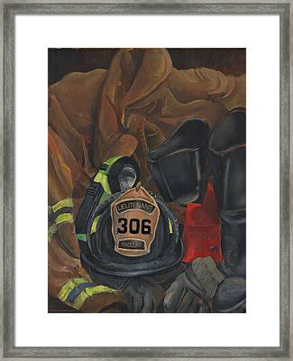 Fireman Commission  Framed Print