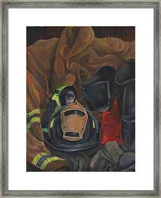 Fireman Personalized Framed Print