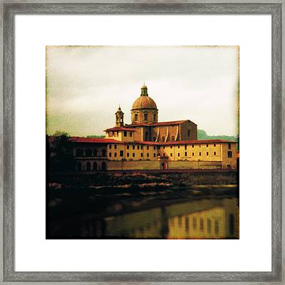 Firenze A Piedi Framed Print by Li   van Saathoff