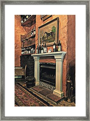 Fireplace Framed Print by Benjamin Matthijs