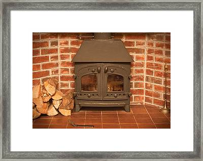 Fireplace Framed Print by Tom Gowanlock