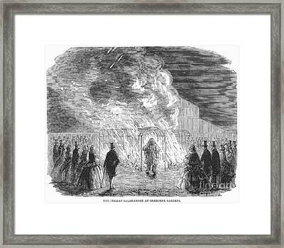 Fireproof Dress, 1858 Framed Print