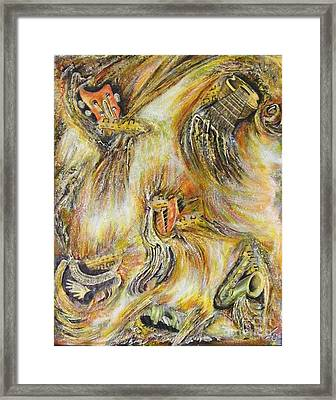 Fires Of Worship Framed Print by Lisa Golem