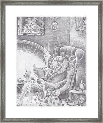 Fireside Companion Framed Print by Canis Canon