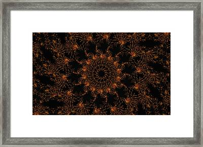 Firestorm 6 Framed Print by Rhonda Barrett