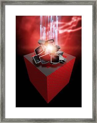Firewall Protection, Conceptual Artwork Framed Print